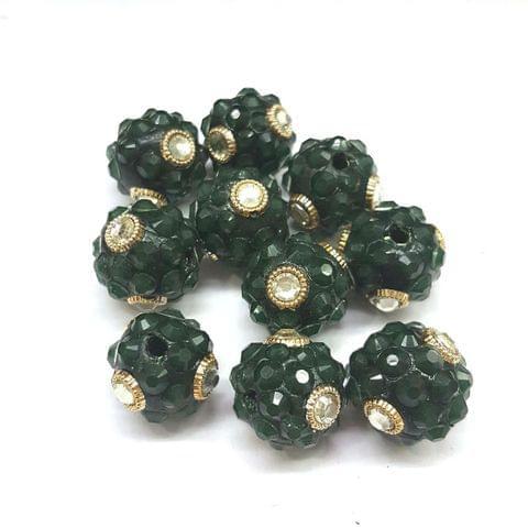 Dark Green, Takkar Ball 16mm, 10 Pieces