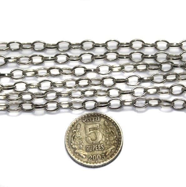 Metal Chain Silver Finish 1.25 Mtrs.