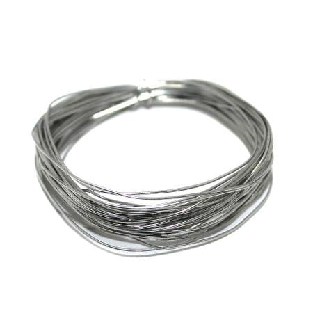 Jewellery Making Silver Plated Brass Craft Wire, 15 Mtrs, 24 Gauge Thick (0.55 mm)