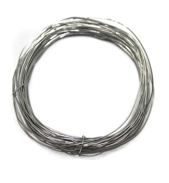 Jewellery Making Silver Plated Brass Craft Wire, 20 Mtrs, 26 Gauge Thick (0.45 mm)