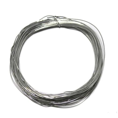 Jewellery Making Silver Plated Brass Craft Wire, 20 Mtrs, 28 Gauge Thick (0.36 mm)