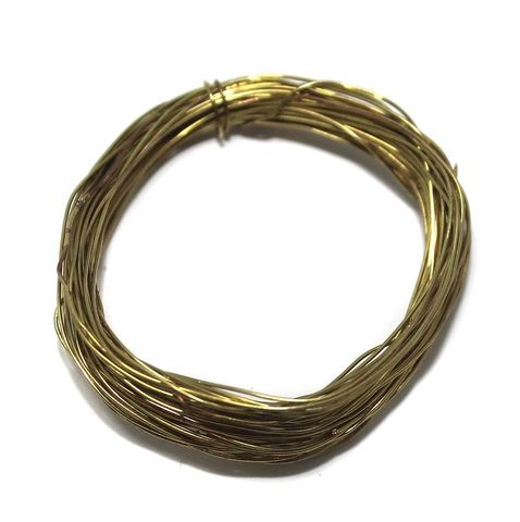 Jewellery Making Golden Plated Brass Craft Wire, 20 Mtrs, 30 Gauge Thick (0.30 mm)