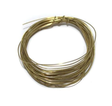 Jewellery Making Golden Plated Brass Craft Wire, 20 Mtrs, 26 Gauge Thick (0.45 mm)