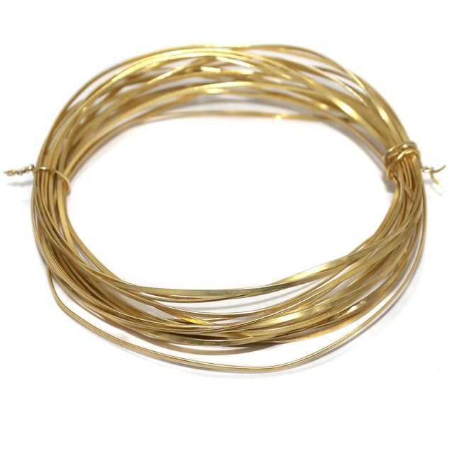 18 Gauge [1.20 mm] Jewellery Making Golden Plated Brass Craft Wire 5 Mtr