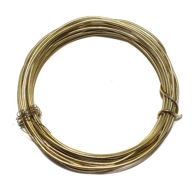16 Gauge [1.60 mm] Jewellery Making Golden Plated Brass Craft Wire [5 mtr]
