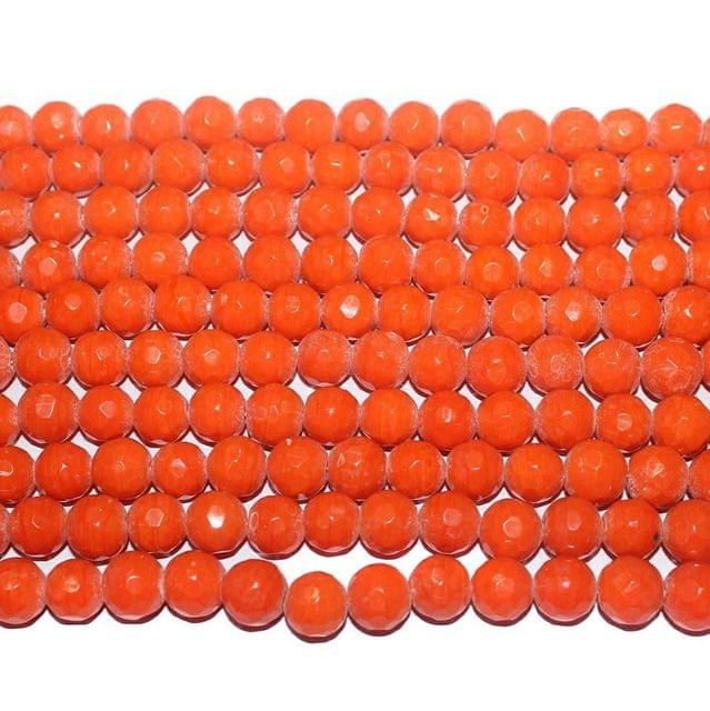 Faceted Glass Beads Orange . 3 string set.