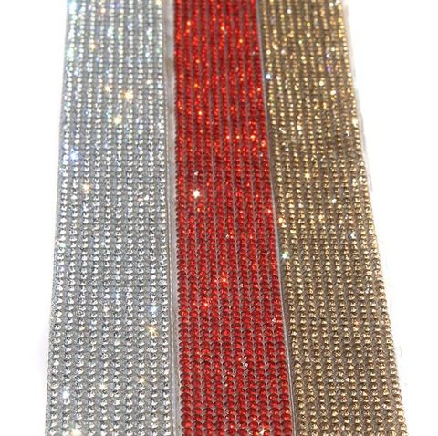Stone Sheet/Stone Lace Silver, Golden And Red 15.5 Inch 3 Colors