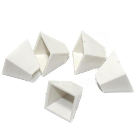 Silk Thread Jewellery Making Square Shape Jhumka base, Size 18x16 , Pack Of 50 Pcs