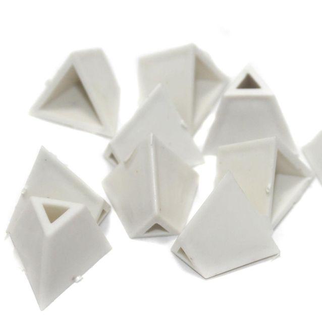 Silk Thread Jewellery Making Triangle Shape Jhumka base, Size 22x17 , Pack Of 50 Pcs