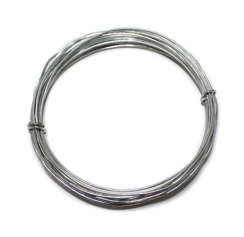 18 Gauge [1.20 mm] Silver Plated Brass Crafts Wire [10 Mtr]
