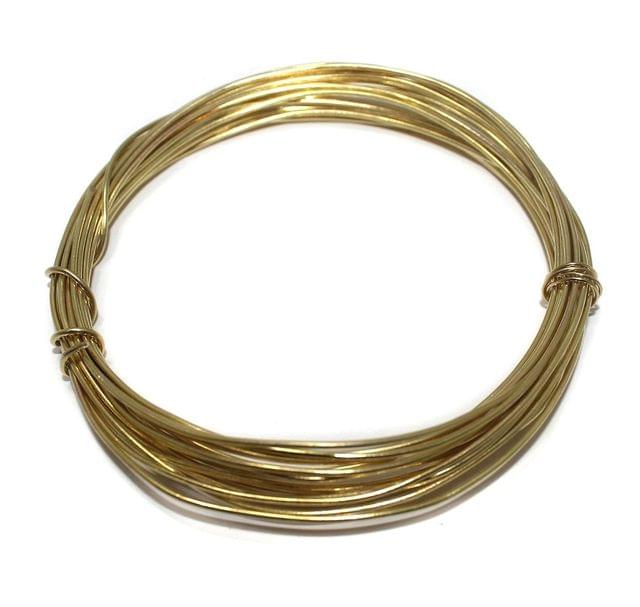 18 Gauge [1.20 mm] Jewellery Making Golden Plated Brass Craft Wire [10 Mtr]