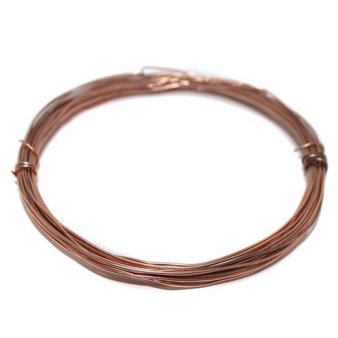 Jewellery Making Copper Plated Brass Craft Wire, 10 Mtrs, 20 Gauge Thick (0.90 mm)