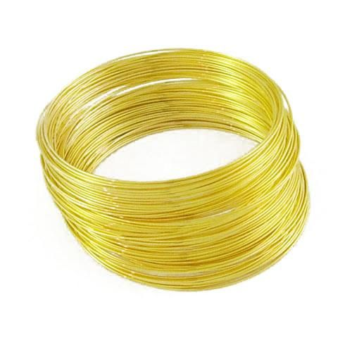 100 Row Golden Memory Wire For Bracelets Size 2.4