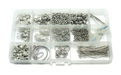 Jewellery Making Finding DIY Kit Silver