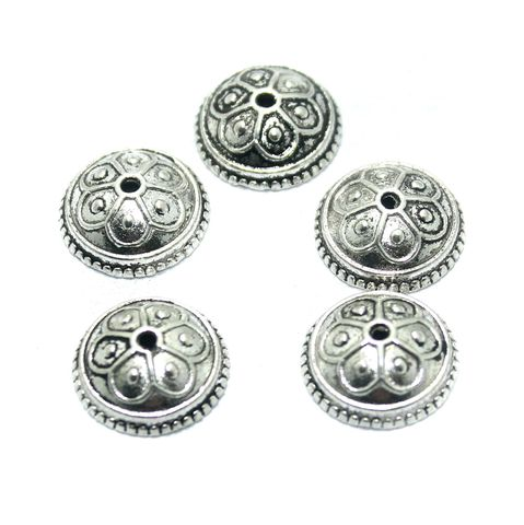 25 Pcs. German Silver Bead Cap, Size-14x5mm