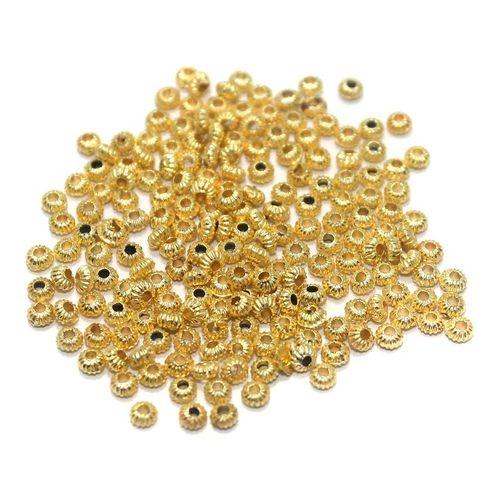 100 Gm CCB Round Beads Golden 3 mm