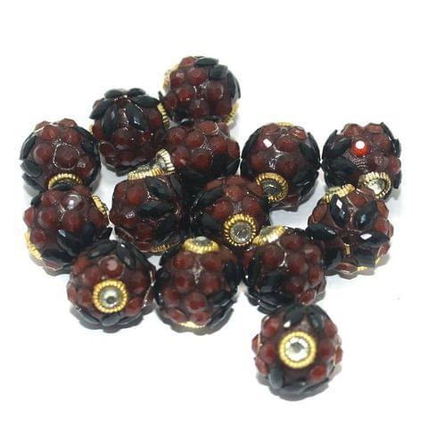 Takkar Work Round Beads 15mm Black