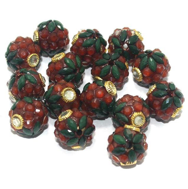 Takkar Work Round Beads 15mm Multicolor
