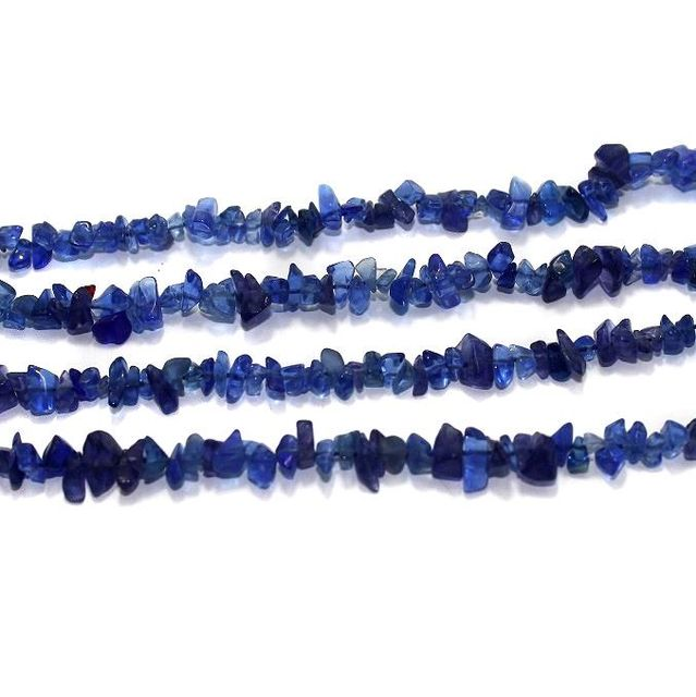 110+ Glass Uncut Beads Blue 5-8 mm