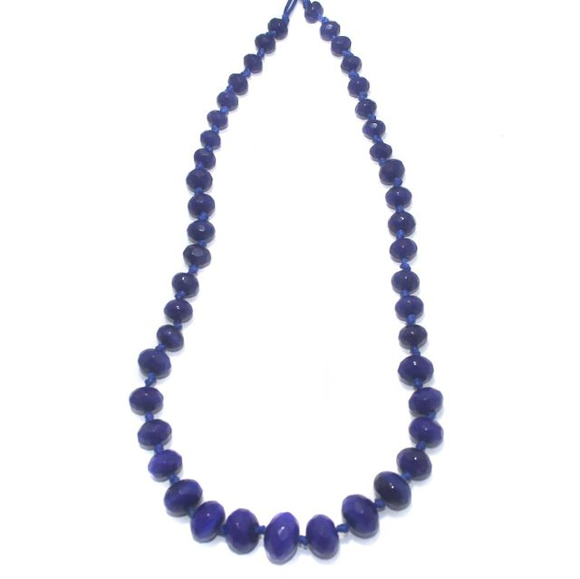 40+ Faceted Glass Rondelle Beads Blue 8-17mm