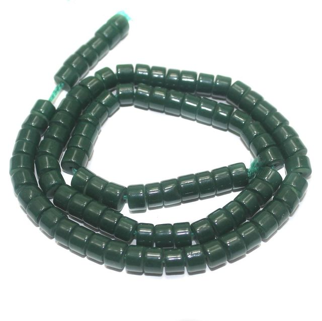 Jaipuri Beads Green Tyre 5 Strings 6x4mm