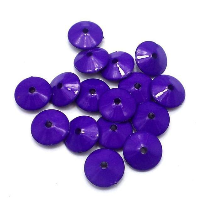100 Neon RONDELLE Beads Blue 8x15