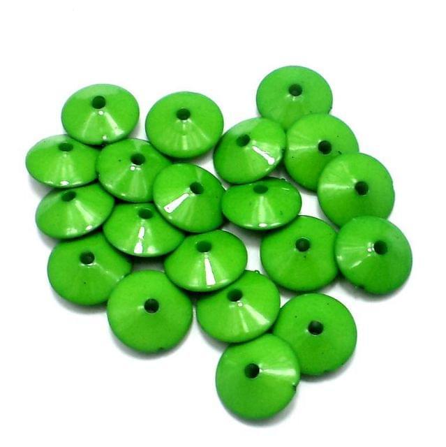 100 Neon RONDELLE Beads Peridot 8x15