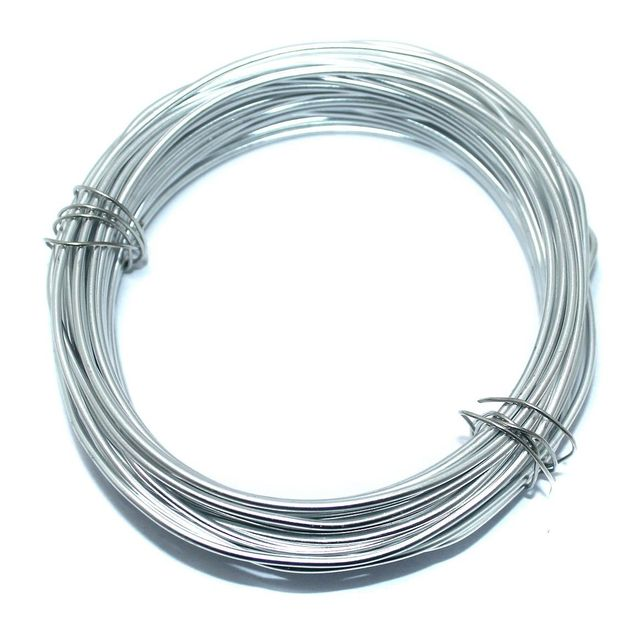 Aluminium Craft Wire Silver 10 Mtrs, Size 2 mm