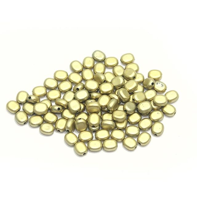 680+ Acrylic Capsule Beads Golden 8x7