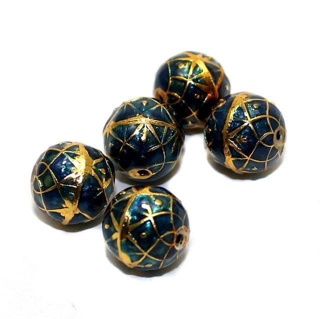 5 Meenakari Round Beads 10