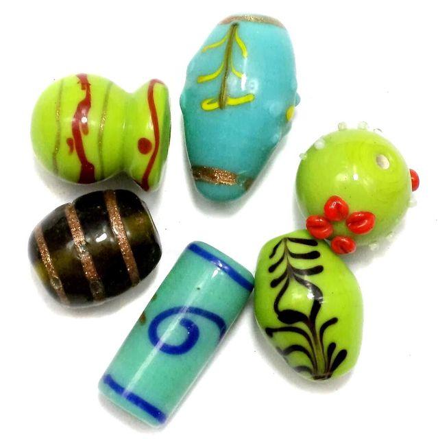 70+ Fancy Beads Green 8-25
