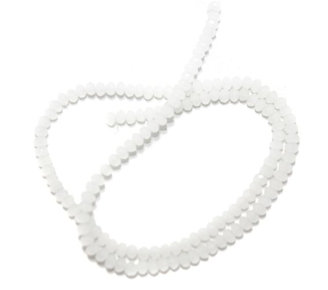 140+ Crystal Faceted Rondelle Beads Normal White 3 mm