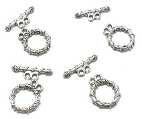 20 German Silver Toggles Claps 15 mm