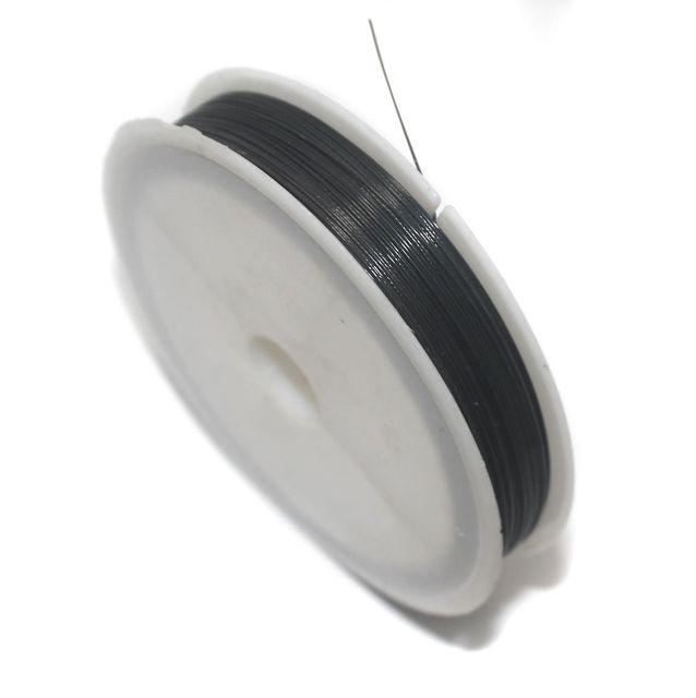 100 Mtrs. Jewellery Making Metal Beading Wire Black 0.45