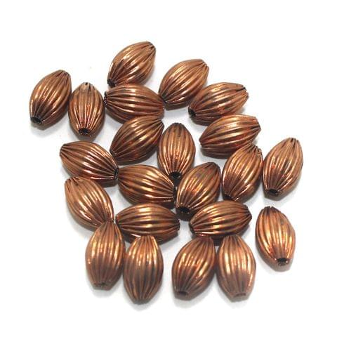 50 Brass Liner Oval Beads Copper 12x8