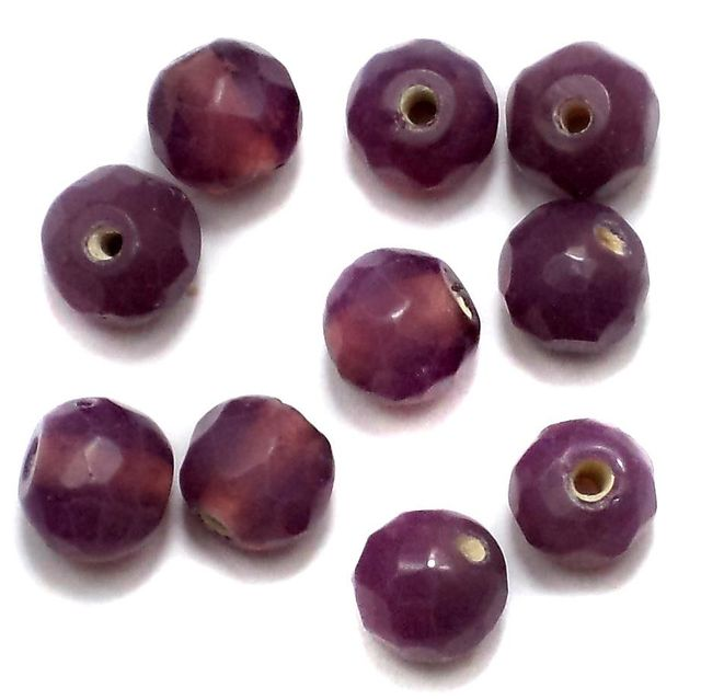 110+ Faceted Round Beads Purple 10