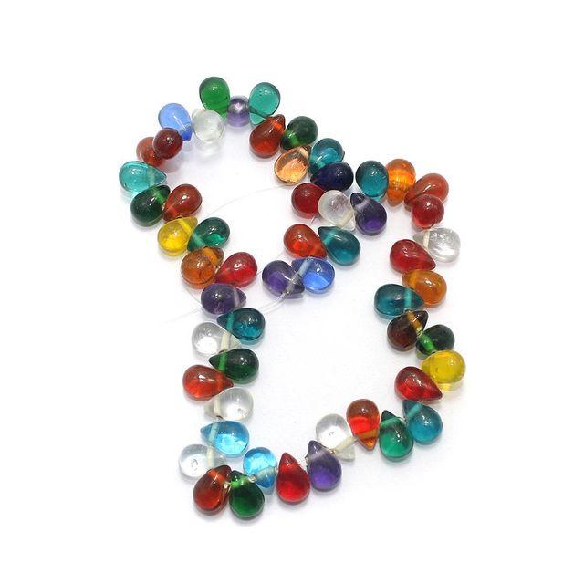 50+ Glass Drop Beads Assorted 14x10