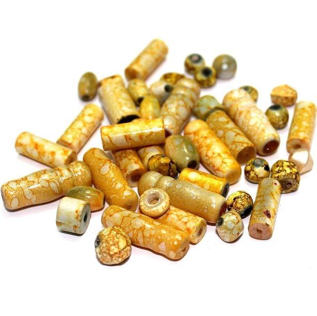 320+ Marble Beads Light Yellow 5-22