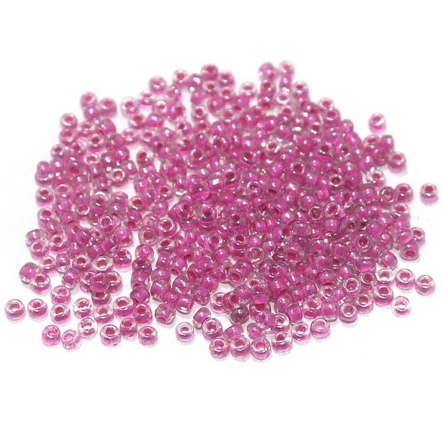 100 Gm Seed Beads Inside Color Magenta 11/0 size