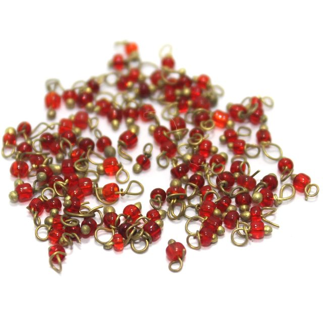 Loreal Seed Beads 1mm Red 1400+ Pcs