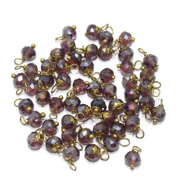 Faceted Loreal Beads Trans Purple 200 Pcs 4mm