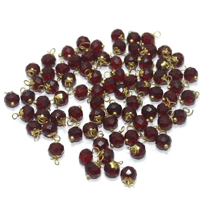 Faceted Loreal Beads Trans Maroon 200 Pcs 4mm