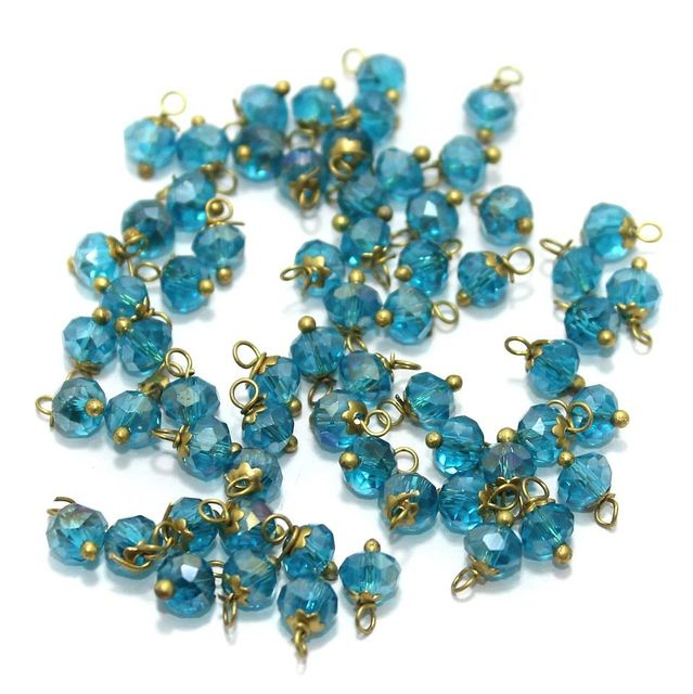Faceted Loreal Beads Trans Turquoise 200 Pcs 5mm