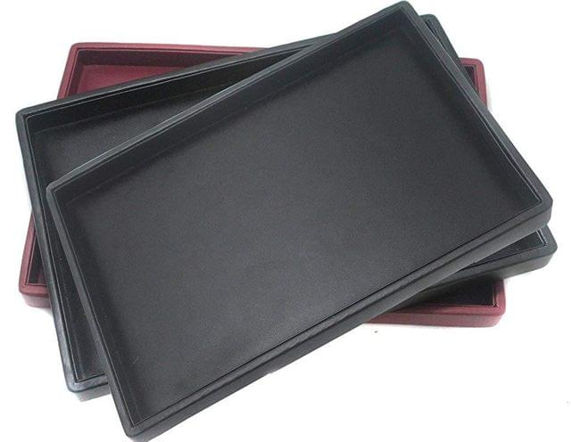 Beading Jewellery Display Tray Black and Cherry Red 12x8 inch, Pack of 3 Pcs.