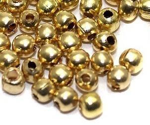 1400 Metal Ball Beads Golden 3