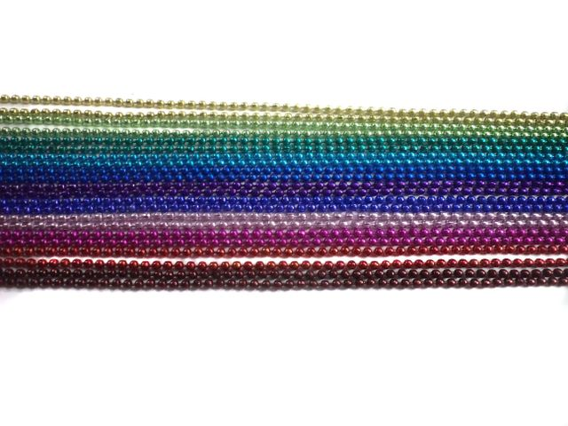 Metal Ball Chains Assorted 9 Colors [1 Mtr Each]