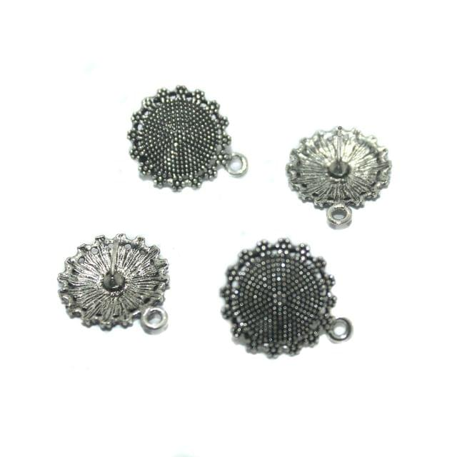 10 Pairs German Silver Earring Component 20 mm