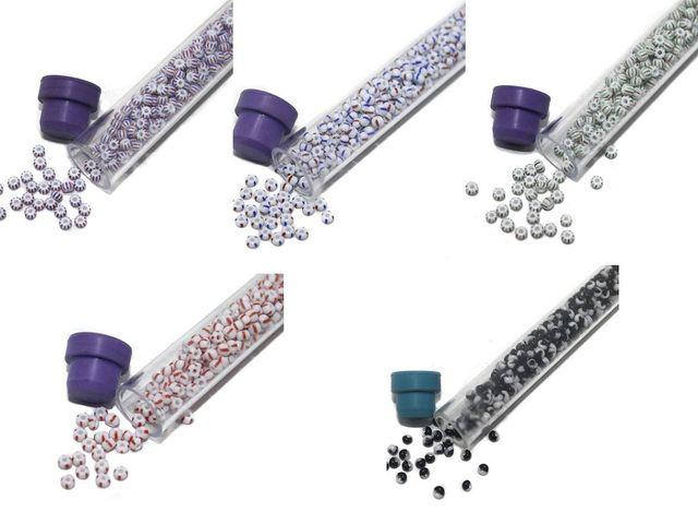 Preciosa seed Beads Assorted 5 Tube DIY Combo, Size 8/0, 400 Beads/Tube