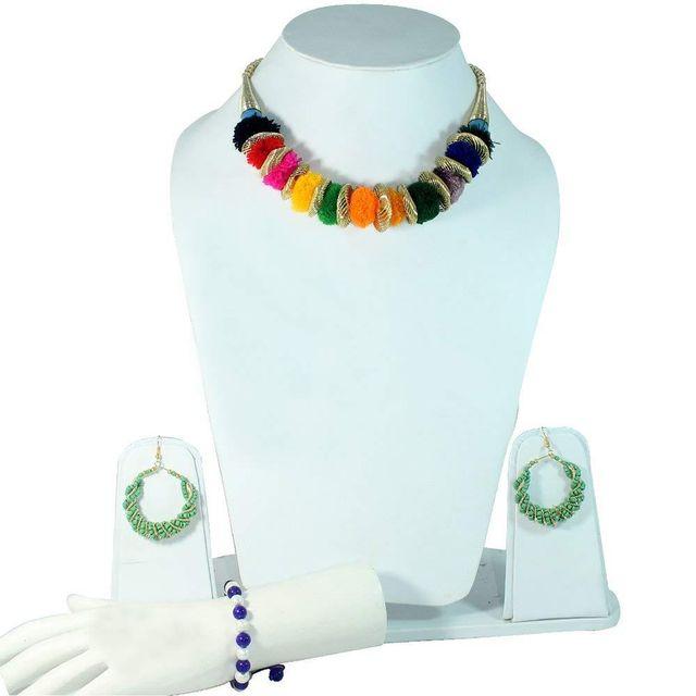 Beadsnfashion Nacklace, Bracelet & Earring Combo Set