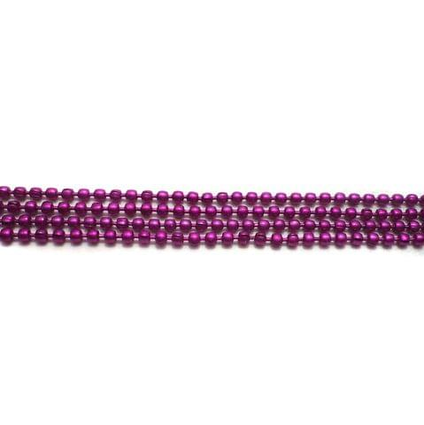4 Metal Ball Chain Magenta 2 [1 Mtr Each]